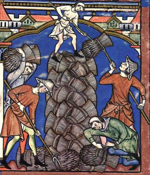 Bauern bei der Ernte (Kreuzfahrerbibel)