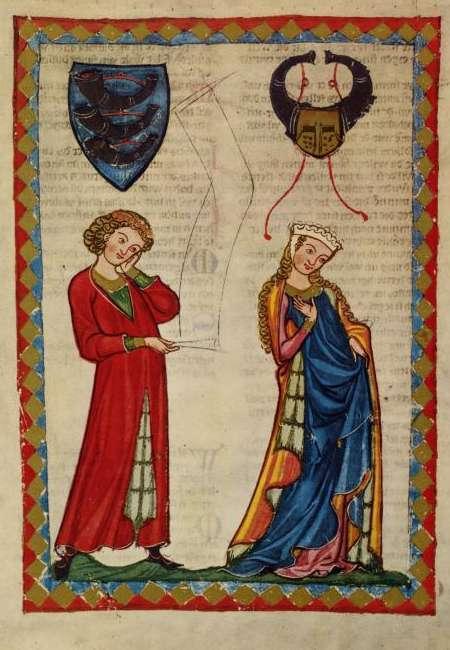 Gottfried von Neifen (Abbildung aus dem Codex Manesse)