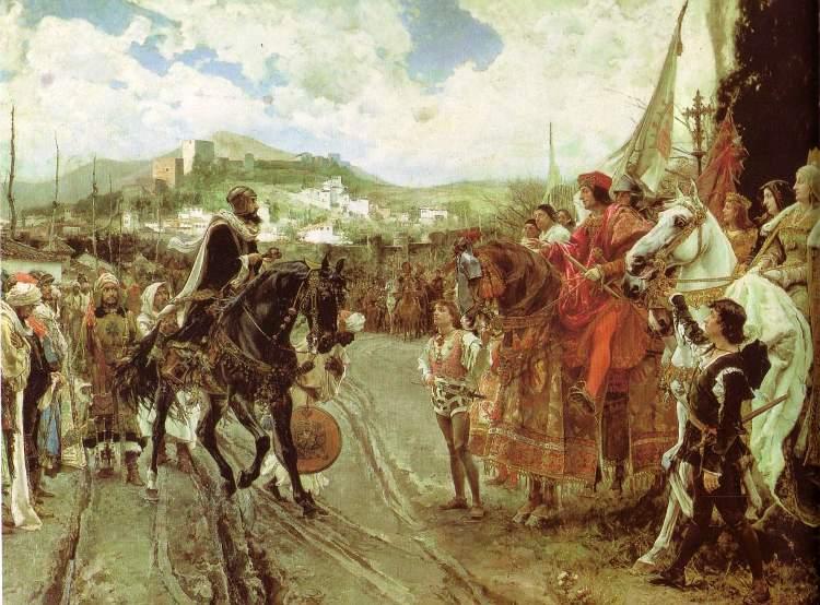 Isabella I. und Ferdinand II. nach der Eroberung Granadas 1492